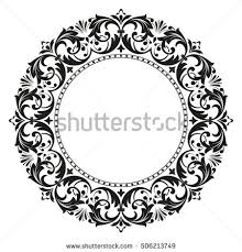 Decorative Line Clip Art Decorative Line Art Frames Design Template Stock Vector 506213749