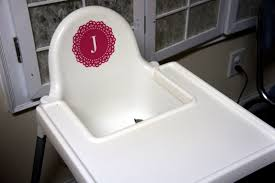 a monogrammed high chair saturdaychic