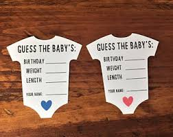 baby shower guessing baby shower guess etsy