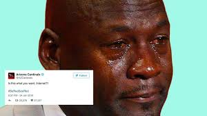 Lebron James Crying Meme - the arizona cardinals actually tweeted a crying jordan meme