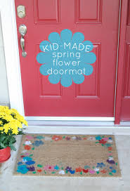 spring flower airbrush doormat make and takes