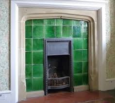 garrard plain glazed tiles in a fireplace in mount grace priory