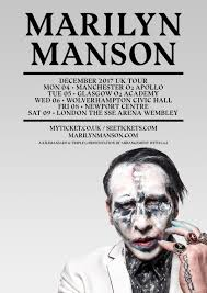 marilyn manson newport centre 8th december newport live