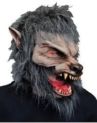 proffesional werewolf realistic horror mask moving mouth