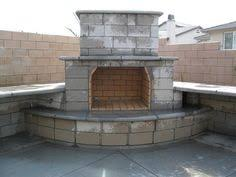 Outdoor Cinder Block Fireplace Plans - outdoor fireplace and outdoor kitchen design plans by backyard