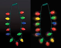 light necklace images Christmas light bulbs necklace jpg