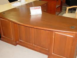Used Office Desk Hoppers Office Furniture Used Solid Wood L Shape Executive Desk