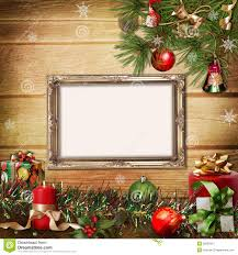 Christmas Tree Picture Frames Christmas Greeting Card With Frames For A Family Stock Image