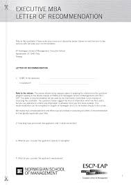 emba letter of recommendation sample cover letter templates