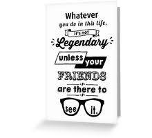 legendary barney stinson quote black