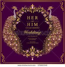 indian wedding invitation indian wedding invitation card templates gold stock vector