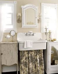 shabby chic bathrooms create a romantic vintage atmosphere
