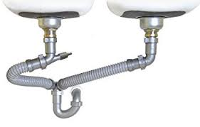 Snappy Trap   Drain Kit For Double Kitchen Sinks  Amazoncom - Fitting kitchen sink waste