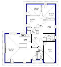 bureau et maison plan maison 3 chambres 1 bureau lysa contemporaine maisons lara