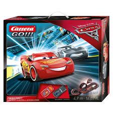 amazon com carrera 62418 go disney pixar cars 3 finish first