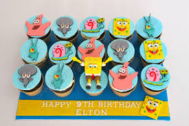 Spongebob Centerpiece Decorations by Celebrate With Cake Spongebob Cupcakes
