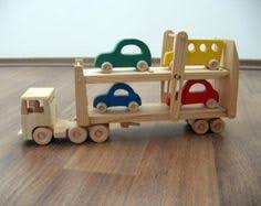 Build Big Wood Toy Trucks by Working Dump Truck Wooden Construction Toy Amish Handmade Wood