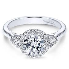 engagement rings round images Noelle platinum round 3 stones halo engagement ring er7482pt4jj jpg
