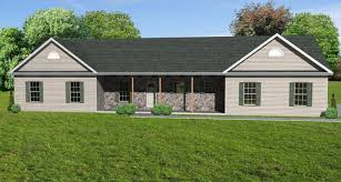 Ranch Style House Plans With Wrap Around Porch House Plans One Story With Porches Christmas Ideas Home