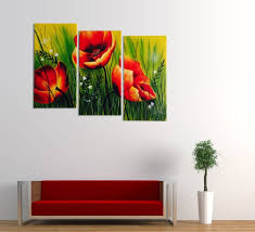 3 piece floral wall art takuice com elegant 3 piece floral wall art 43 on abstract art wall murals with 3 piece floral