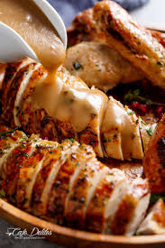 crispy skin cooker turkey gravy cafe delites