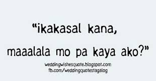 Wedding Quotes Tagalog Wedding Wishes Quotes Tagalog Version Wedding Wish Tagalog