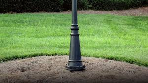 how to install outdoor light post gs 3 ez l post anchor youtube