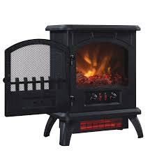 Duraflame Electric Fireplace Duraflame 500 Black Infrared Freestanding Electric Fireplace Stove