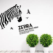 1pcs sketch zebra animal poster mural temporary wall sticker