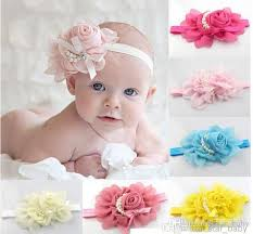 baby girl hair accessories 2016 baby kids adorable hair bands vintage roses pearls