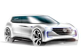 old volkswagen drawing vw u0027s 2019 electric vehicle for paris motor show reveal autocar