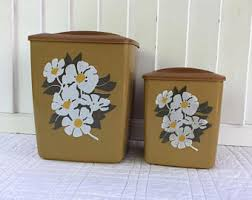 retro kitchen canisters retro canisters etsy