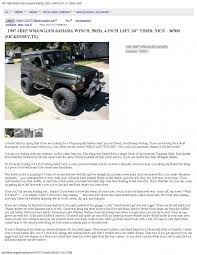 Jeep For Sale Craigslist One Of The Most Epic Craigslist Ads Of All Time Awesomejelly