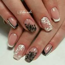 black french nails u2026 pinteres u2026