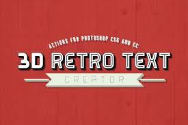 3d retro text creator photoshop actions by pstutorialsws on deviantart