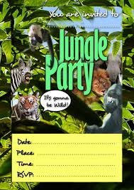 hunger games birthday party invitations free kids party invitations jungle invitation