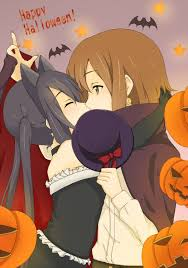 happy halloween meme happy halloween from yui and azusa yuri know your meme