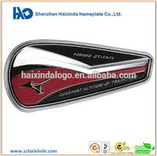 nickel electroforming high quality custom colorfull printing golf metal nameplate nickel