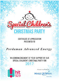 pae is proudly supporting the special children u0027s christmas party
