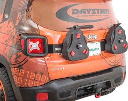 orange jeep renegade daystar kj50020bk cam can tailgate mount for 15 17 jeep renegade