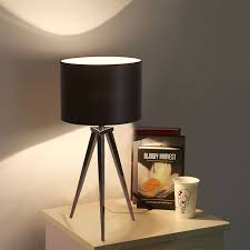 modern fabric tripod table lamp office living room bedroom bedside