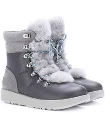 ugg boots australian leather viki waterproof leather ankle boots ugg australia mytheresa