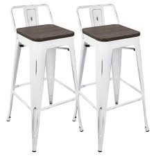 Bar Stool With Back Oregon Industrial Low Back Bar Stool With Vintage Set Of 2