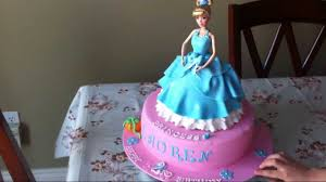 cinderella princess doll birthday cake youtube