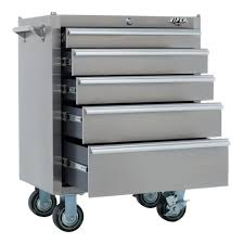 rolling tool storage cabinets viper tool storage v2605ssr 26 inch 5 drawer 18g stainless steel
