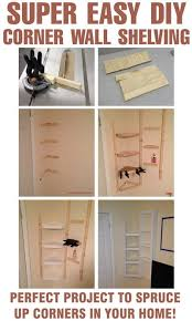 Build Your Own Bookcase Wall How To Build Simple Corner Wall Shelving Yourself Diy