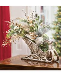 sleigh centerpiece at officescapesdirect
