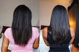 best hairstyles for relaxed hair how to style relaxed hair one month relaxer touchup u2013 before u0026 after photos lauren mechelle