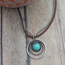 long turquoise pendant necklace images Western style necklace cowgirl jewelry cattle kate jpg