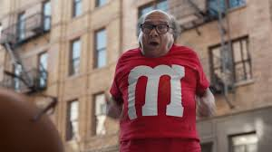 danny devito danny devito is the red m m in super bowl lii ad watch